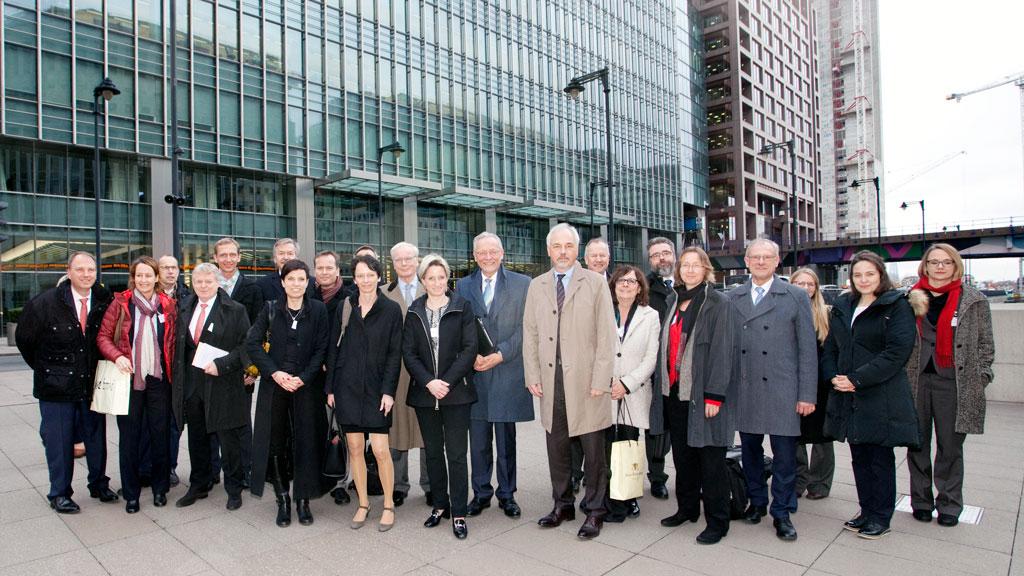 Wirtschaftsministerin Dr. Hoffmeister-Kraut mit der Delegation in London (Quelle: Wirtschaftsministerium Baden-Württemberg)