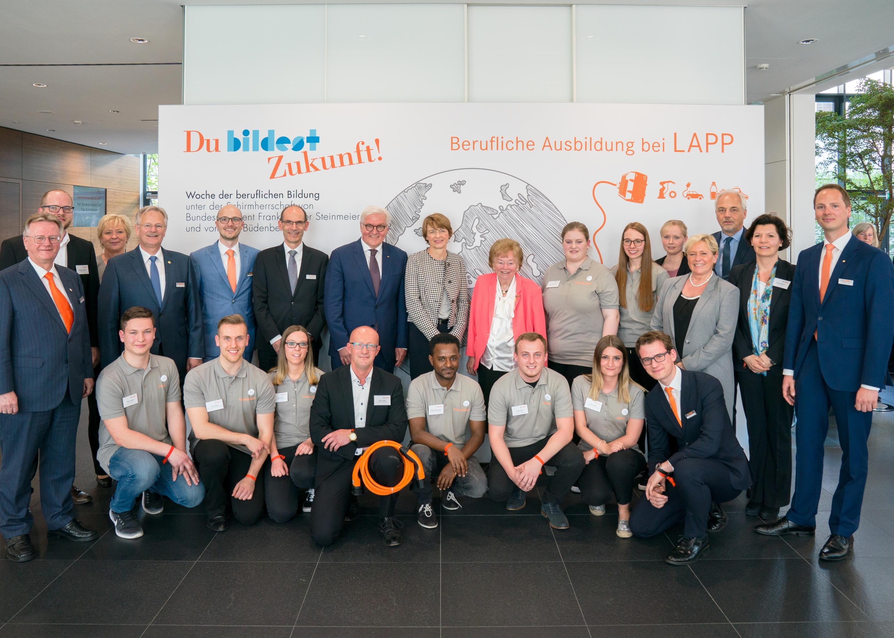Bundespräsident Steinmeier bei Lapp, Foto von Wolfram Scheible