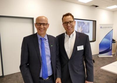 Guntram Wildermuth-Reißer (Sprecher des Vorstands, REISSER AG) und Boris Behringer (Hauptgeschäftsführer, grosshandel-bw)